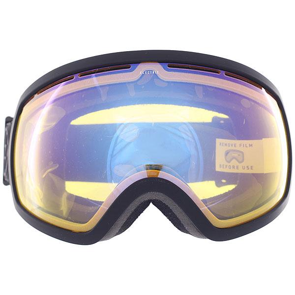 Маска для сноуборда Electric Eg2 Matte Black/Yellow/Blue Chrome