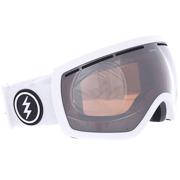Маска для сноуборда Electric Eg2.5 Gloss White+bl/Brose/Silver Chrome