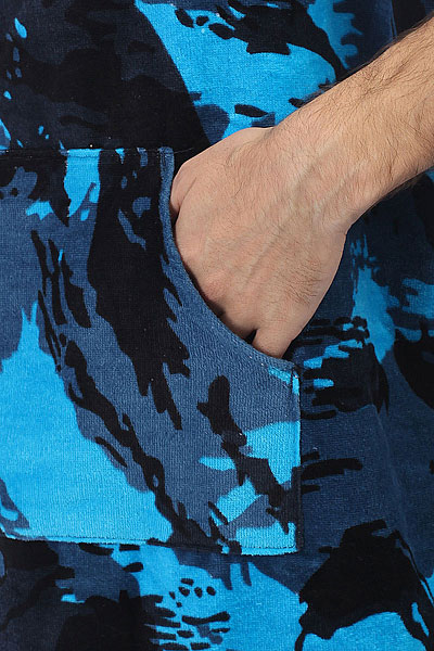 Пончо Quiksilver Hoody Towel Navy Blazer