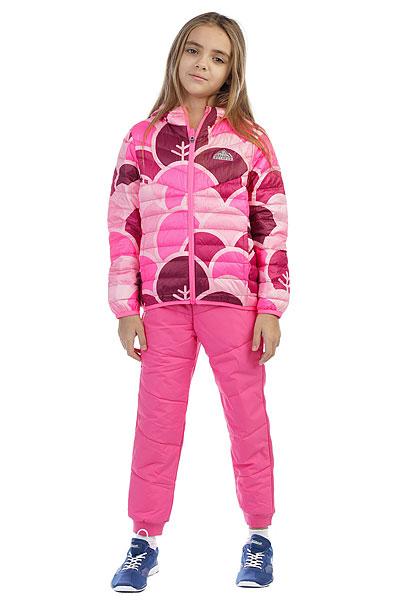 Пуховик детская Anta Темно-Розовая W36746910-3