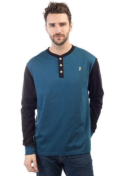 Лонгслив Запорожец Henley Blue/Black