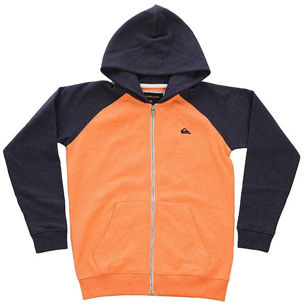 Толстовка классическая детская Quiksilver Everydayzipyth Cadmium Orange Heath