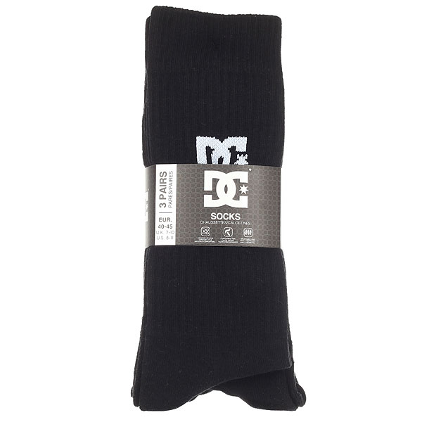 Носки высокие DC Dc Crew 3pk Black