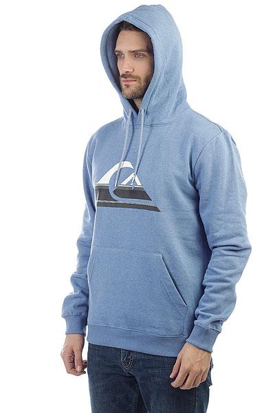 Толстовка кенгуру Quiksilver Big Logo Hood Bright Cobalt Heathe