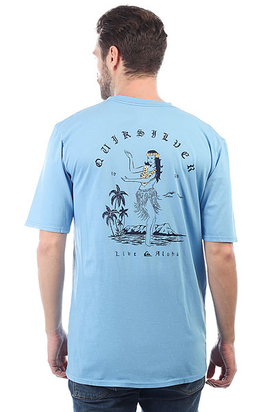 Футболка Quiksilver Gmtdyecurvelove Silver Lake Blue