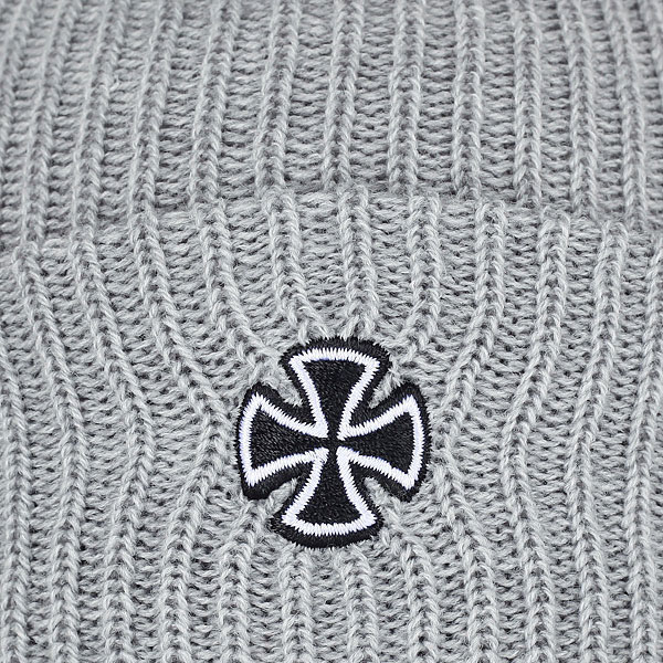 Шапка Independent Cross Ribbed Beanie Heather Grey