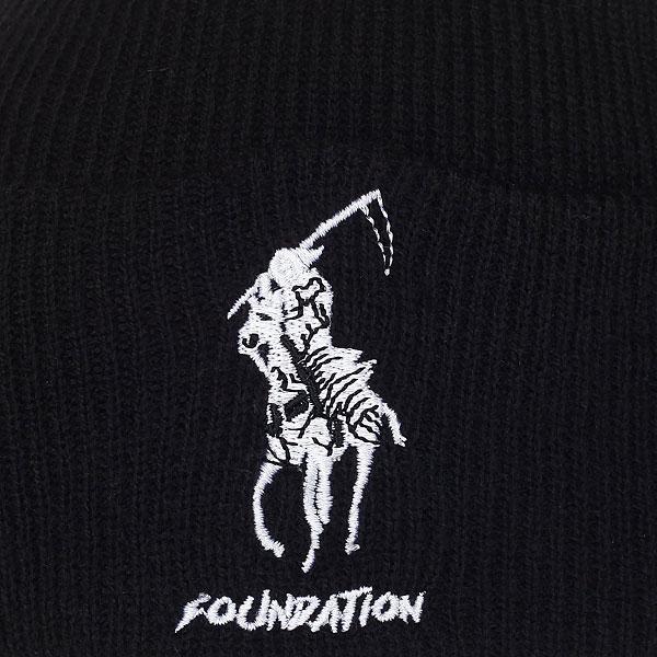 Шапка Foundation Polo Reaper Beanie Black