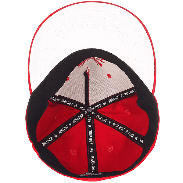 Бейсболка с прямым козырьком Zoo York Third Tonal True Red