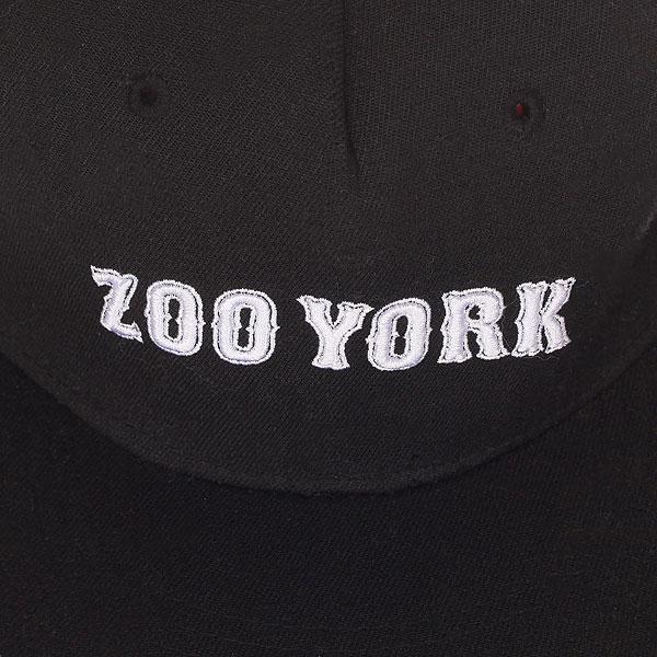 Бейсболка с прямым козырьком Zoo York Academy Flex Fit Black