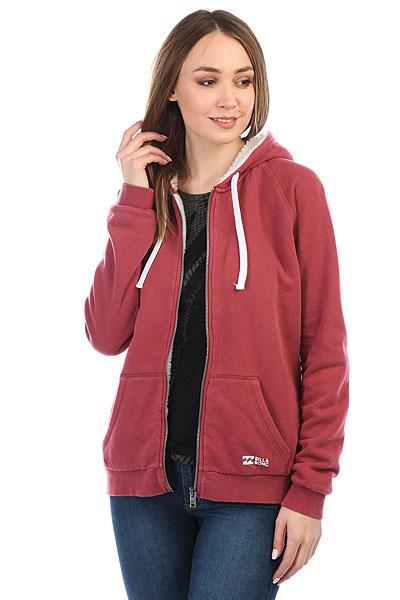Толстовка утепленная женская Billabong Essential Zh Sherpa Scarlet