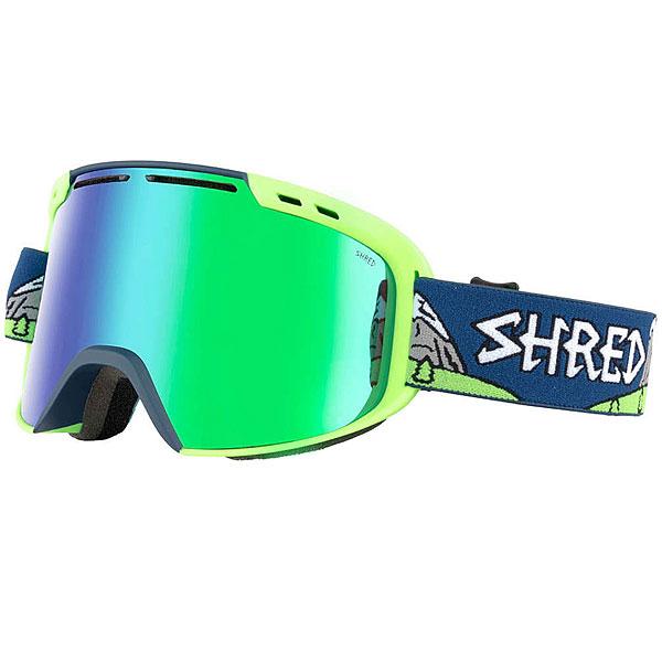 Маска для сноуборда Shred Amazify Needmoresnow Neon Green/Navy
