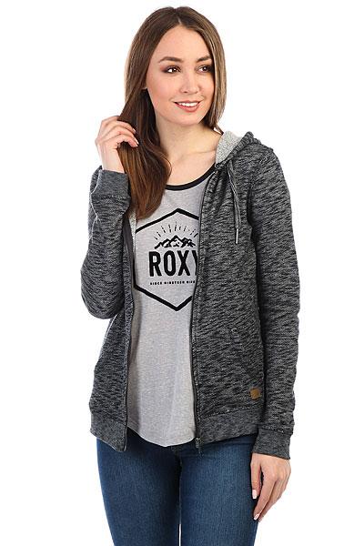 Толстовка классическая женская Roxy Trippin Anthracite Heather
