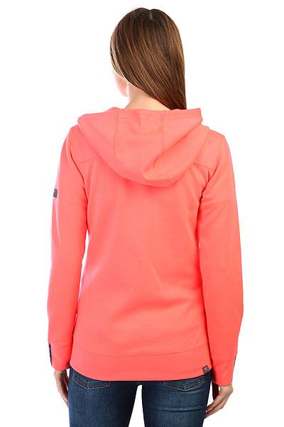 Толстовка классическая женская Roxy Wrap It Up Neon Grapefruit