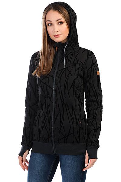 Толстовка сноубордическая женская Roxy Frost Printed True Black_on The Gr