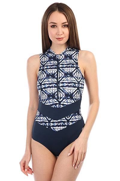 Купальник женский Roxy Ro Fi 1pc Col Dress Blues Geometri