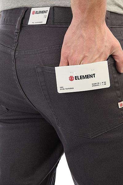 Джинсы узкие Element E02 Asphalt