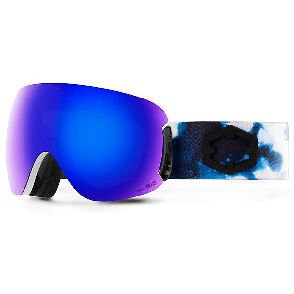 Маска для сноуборда OUT OF Open + Доп Линза Galaxy(blue Mci)