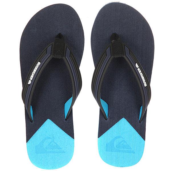 Вьетнамки Quiksilver Molokai New Wav Black/Blue/Blue