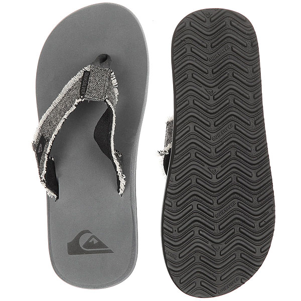 Вьетнамки Quiksilver Monkey Abyss Grey/Black