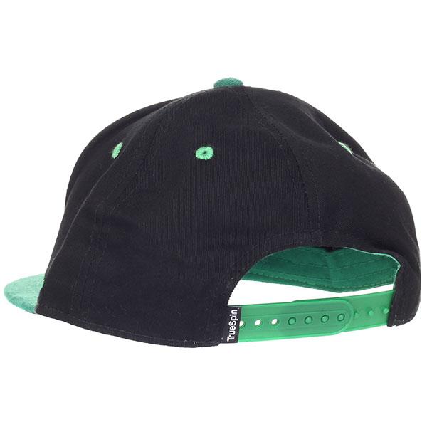 Бейсболка с прямым козырьком TrueSpin 2 Tone Blank Next Level Black/Green