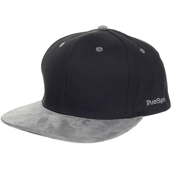 Бейсболка с прямым козырьком TrueSpin 2 Tone Blank Next Level Black/Grey