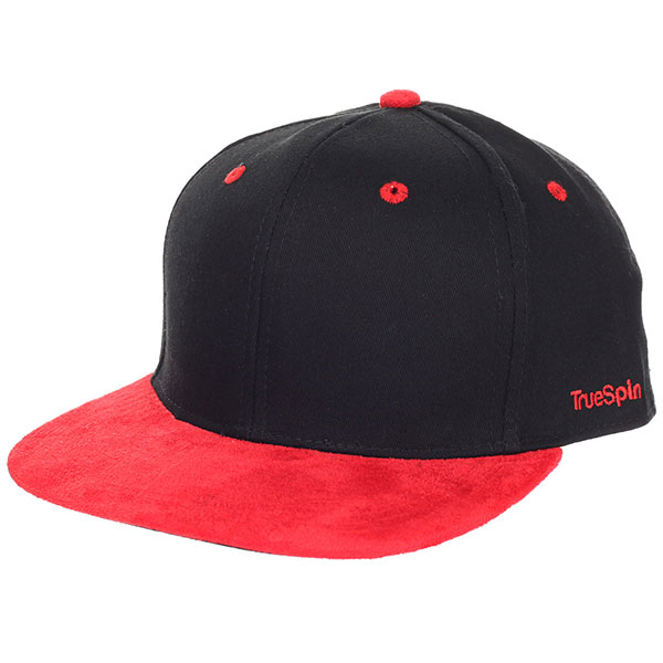 Бейсболка с прямым козырьком TrueSpin 2 Tone Blank Next Level Black/Red