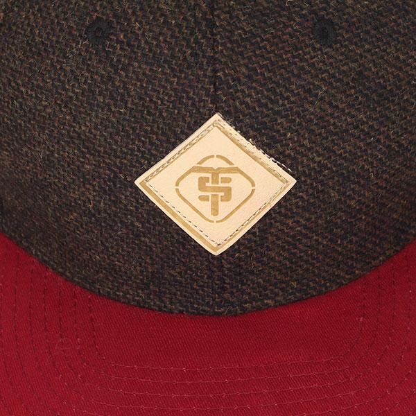 Бейсболка с прямым козырьком TrueSpin Chevron Dark Brown