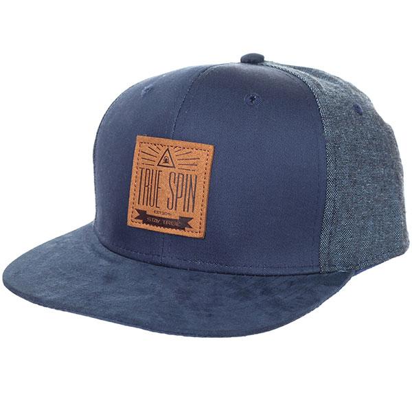 Бейсболка с прямым козырьком TrueSpin New Velvet Blue