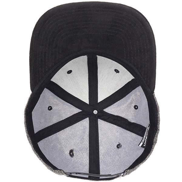 Бейсболка с прямым козырьком TrueSpin Rubber Taper Grey/Black