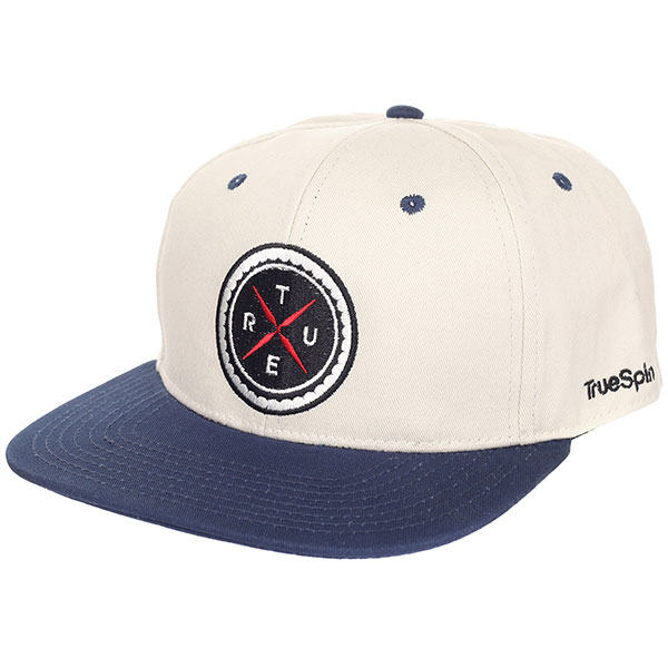 Бейсболка с прямым козырьком TrueSpin Twister White/Blue