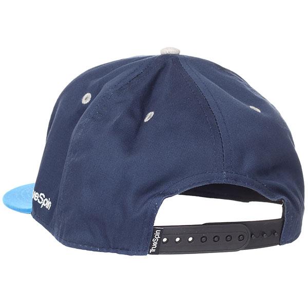 Бейсболка с прямым козырьком TrueSpin Typo Team Navy/Blue