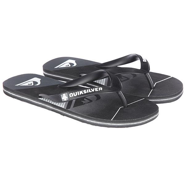 Вьетнамки Quiksilver Moloslashfadelo Black/Black/Grey