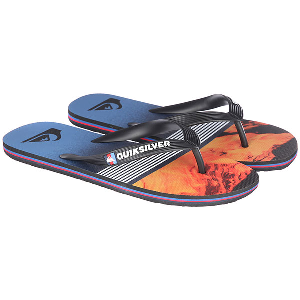 Вьетнамки Quiksilver Molokailavadivs Black/Red/Blue