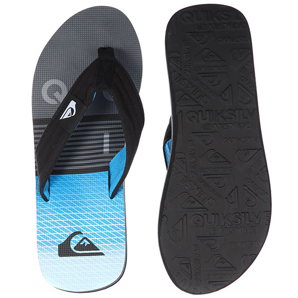 Вьетнамки Quiksilver Molokai Layback Black/Grey/Blue