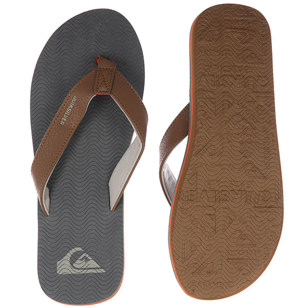 Вьетнамки Quiksilver Molokai Laser Grey/Orange