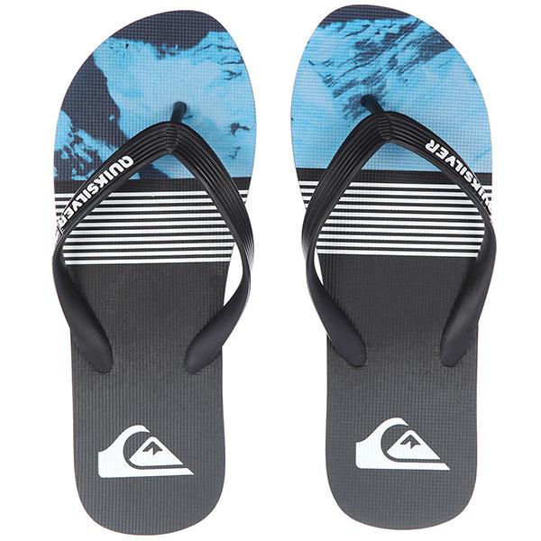 Вьетнамки Quiksilver Molokailavadivs Black/Blue/Grey