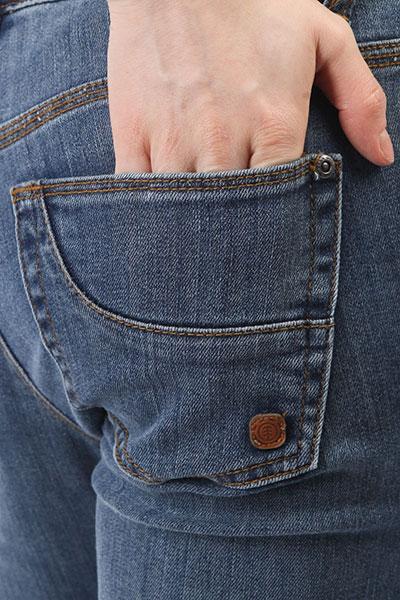Джинсы узкие женские Element Sticker Junkyard Wash