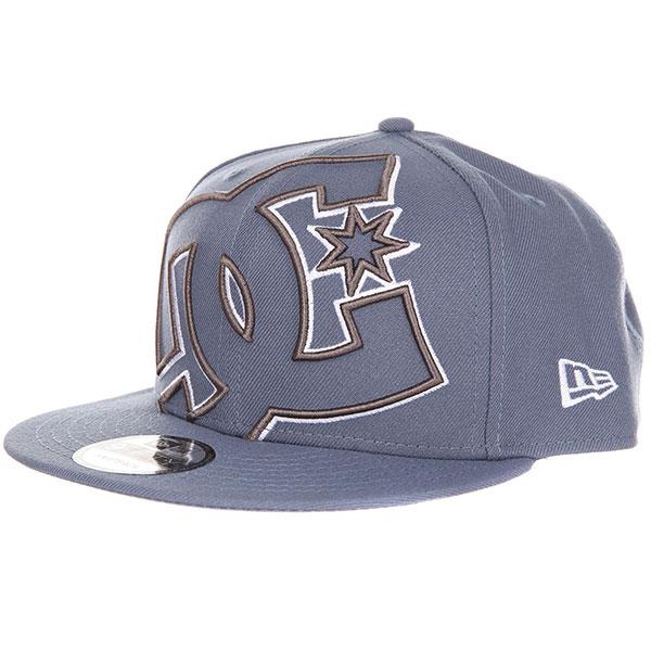 Бейсболка с прямым козырьком DC Double Up Blue Mirage