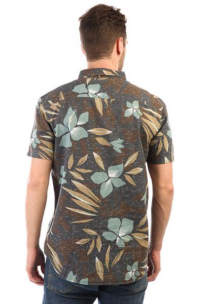 Рубашка Quiksilver Sslinenprintshi Chocolate Linen