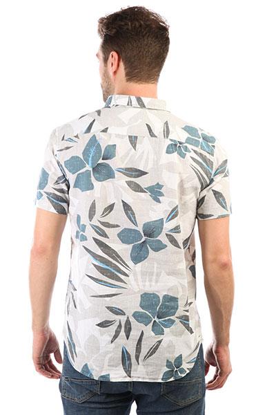 Рубашка Quiksilver Sslinenprintshi Sleet Linen