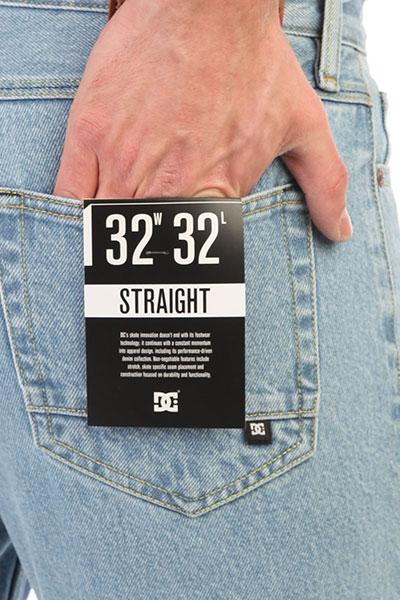 Джинсы прямые DC Worker Straight Vintage Bleach