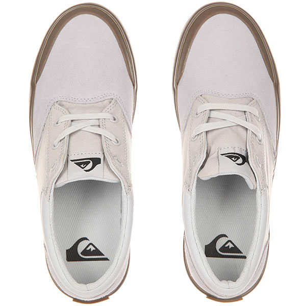Кеды низкие детские Quiksilver Verant Youth White/White/Brown