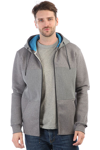 Толстовка классическая Quiksilver Highland Gaze Medium Grey Heather