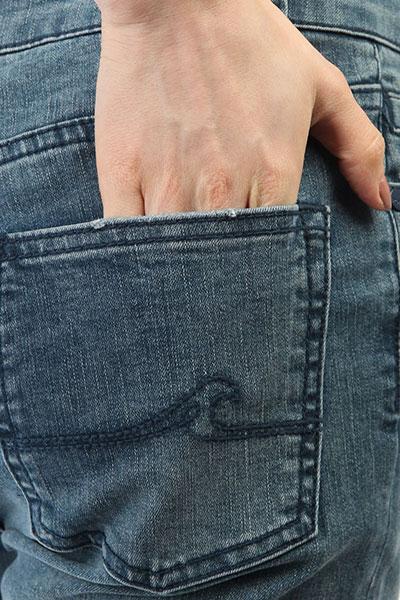 Джинсы узкие женские Roxy Sunnybay Dark Blue
