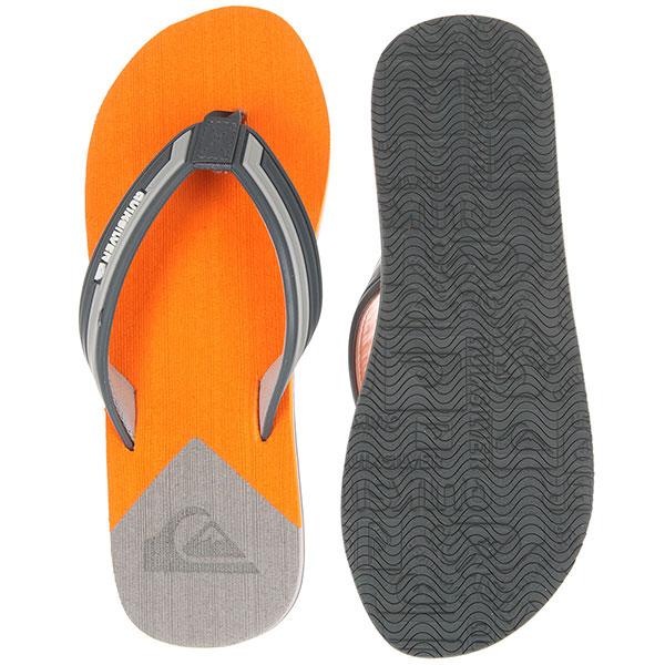 Вьетнамки Quiksilver Molokai New Wave Grey/Orange/Grey