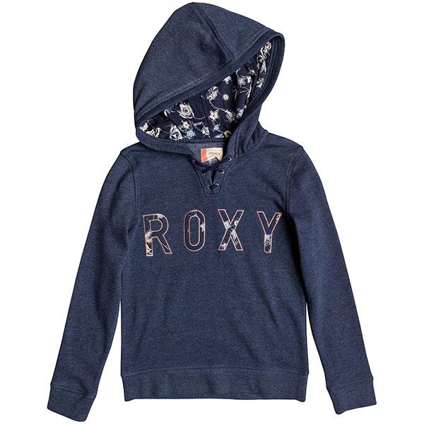 Толстовка классическая детская Roxy Hope You Know Dress Blues Heather