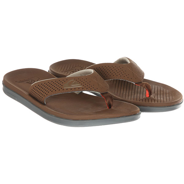Вьетнамки Quiksilver Haleiwa Plus Brown/Brown/Orange