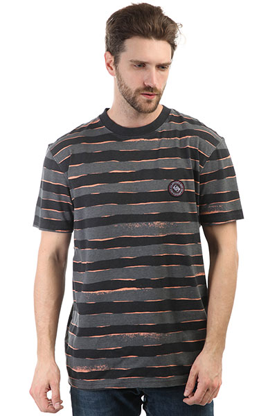 Футболка Quiksilver Ssallprintmadwa Black Mad Max Stripe