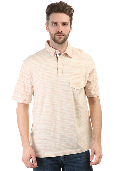 Поло Quiksilver Sanddollarpolo Dusty Coral Sand Dol