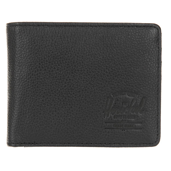 Кошелек Herschel Hank + Coin Leather Rfid Black Pebbled Leather